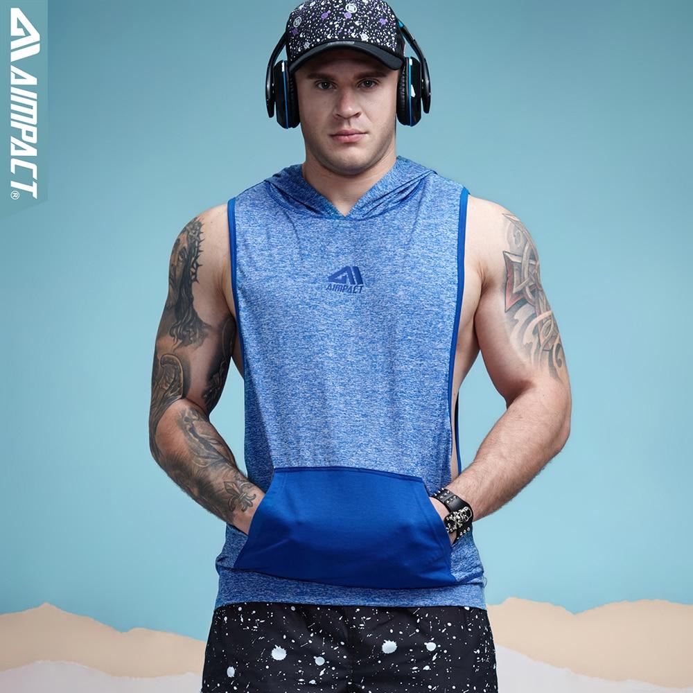 3c6ef83846550 getSubject() Aimpact Men s Tank Top Hoodie Fitness Bodybuilding Muscle Cut  Stringer Crossfit Workout Tank Top Activewear Male