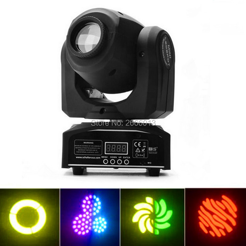 Niugul High brightness 30W pattrens disco dj stage light/30W mini gobo projector/LED spot moving head/DMX512 stage effect light high quality mini 10w led spot moving head 7 gobo stage light disco dj dmx512 rgbw stage effect projector stereotypes packaged