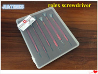 Assortment of 6pcs Stainless Steel Watch Screwdriver for Rlx 2135 3135 Movement Repair