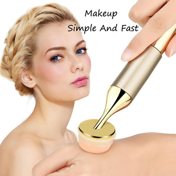 High Quality Gold Electric Puff 3D Vibration Electric Make Up Foundation Sponge Powder Puff Auto Face Applicator Beauty Essentials