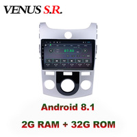 VenusSR Android 8.1 IPS 2G+32G 8 CORE Car DVD Player GPS Navigation Multimedia For KIA Forte Cerato Radio 2007 radio car stereo