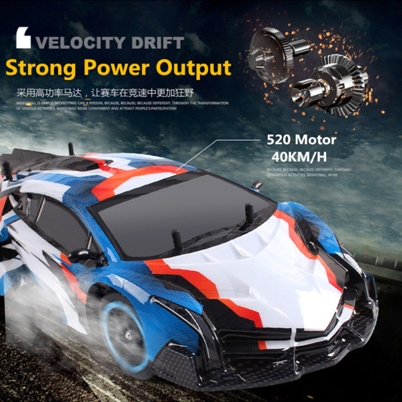 2018 1:10 Radio Control Drift Racing car Children model remote control toy car 2.4G 4WD 40KM/H High-speed stunt raider car 1 10 rc car high speed racing car 2 4g subaru 4 wheel drive radio control sport drift racing car model electronic toy