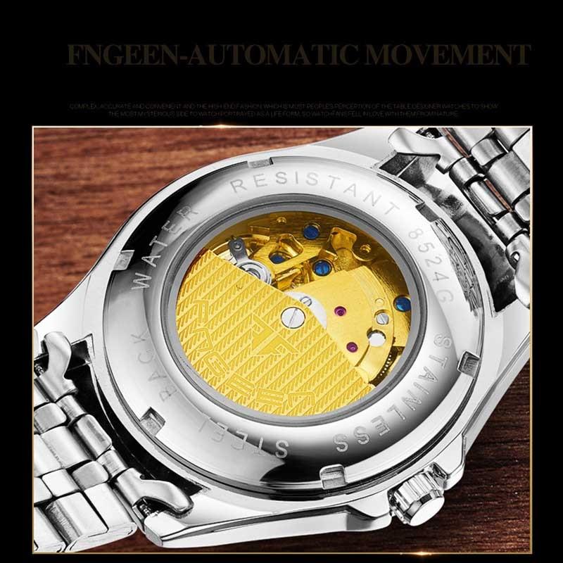 Rome Hollow luxe skeleton automatische liquidatie mechanische - Herenhorloges - Foto 4