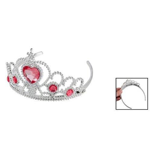 Женские вечерние Корона Пластик красное сердце круглый горный хрусталь головная повязка для волос группа