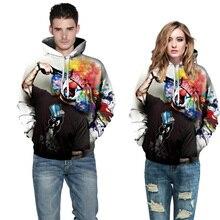 Men/women 3D Print Gun Clown Hooded Hoody Autumn Winter Sweatshirts Hoodies Pullover Tops Hip-hop Basketball Sweater
