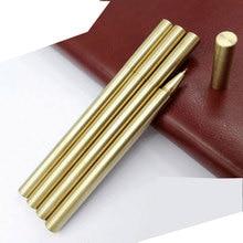 0.5MM High Quality Luxury Gold Minimalism Superfine Gel Pen Ballpoint Pen Brass Caneta stationery Writing Office