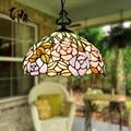 12-дюймовый подвесной светильник из витражного стекла Тиффани-барокко E27 110-240 В  подвесные светильники для дома  гостиной  столовой