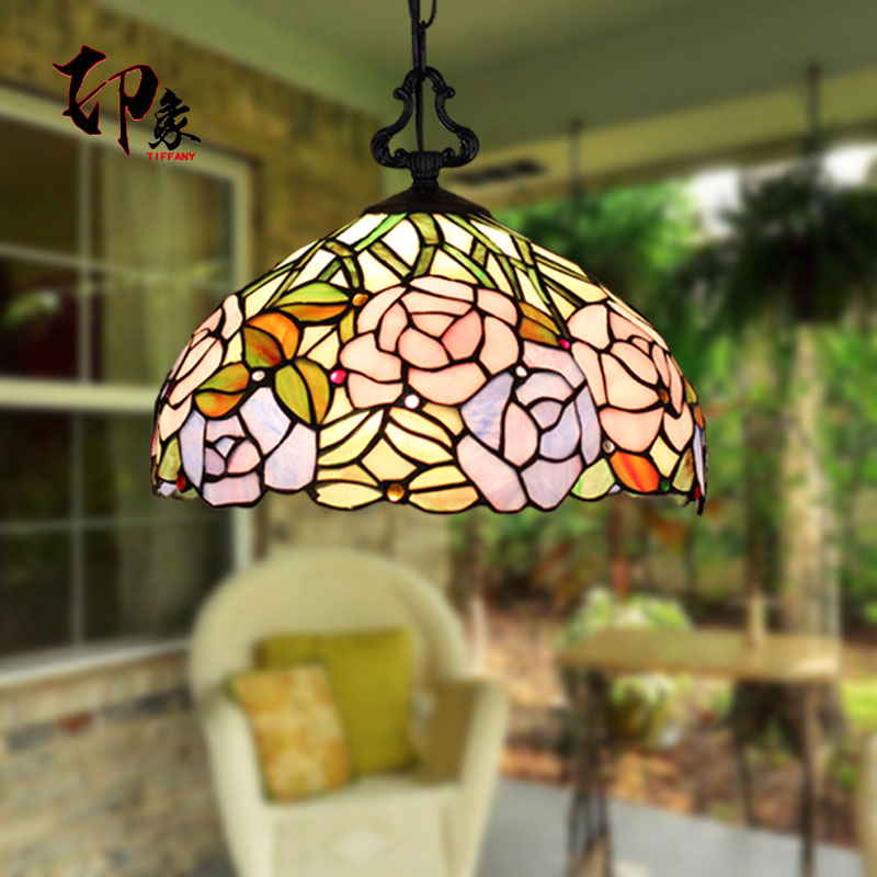 12inch Tiffany Baroque Stained Glass Suspended Luminaire E27 110-240V Chain Pendant lights for Home Parlor Dining bed Room 12inch Tiffany Baroque Stained Glass Suspended Luminaire E27 110-240V Chain Pendant lights for Home Parlor Dining bed Room