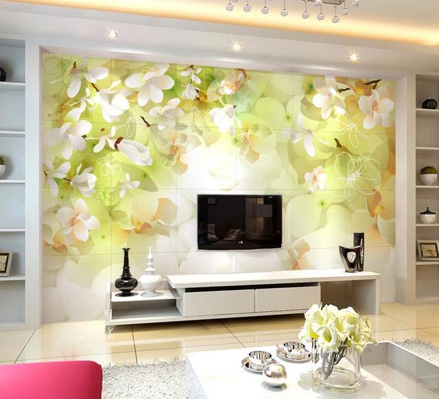 Aliexpress  Buy 3D green falling cherry wallpaper beautiful - 3d wallpaper for living room