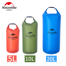 Naturehike lightweight Waterproof Bag  5L 10L 20L Drifting Package Diving Gear Bag Camping Dry Bag River Trekking Bag