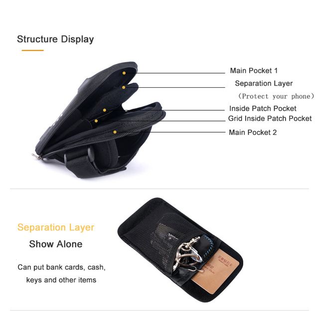 Yipinu Waterproof Small Fitness Running Bag Wallet Jogging Phone Holder Purse Armband Gym Arm Bag Sports Accessories 3
