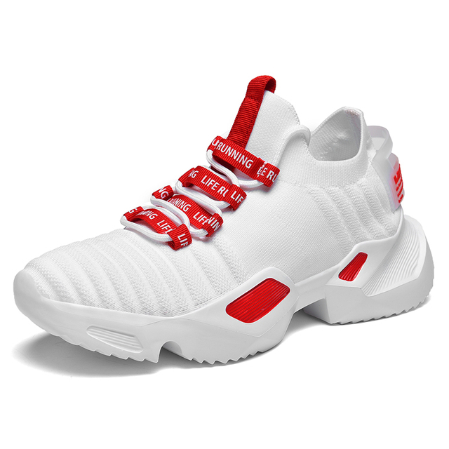 Ins Trend Sport Shoes Man Socks Shoes Man Running Shoes Outdoor Flying Weaving Non-slip Heighten Dad Sneakers Footwear zapatos 5