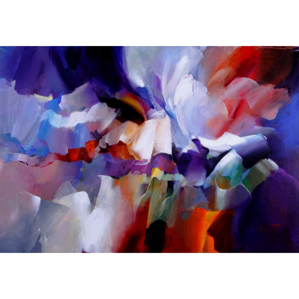 Abstract flower paintings expression Willem Haenraets