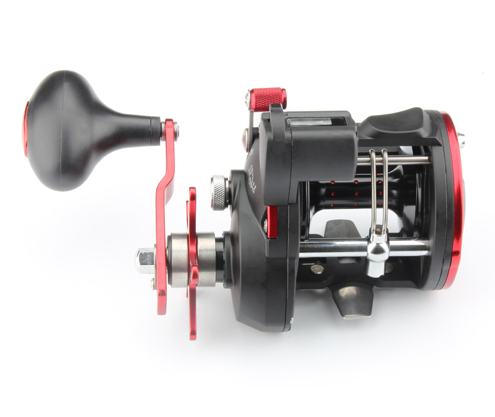 ROSEWOOD RT430 Baitcasting Fishing Reel Boat Drum Type Fishing Tackle Classic Level Wind Star Drag Graphite Trolling Reel (3)