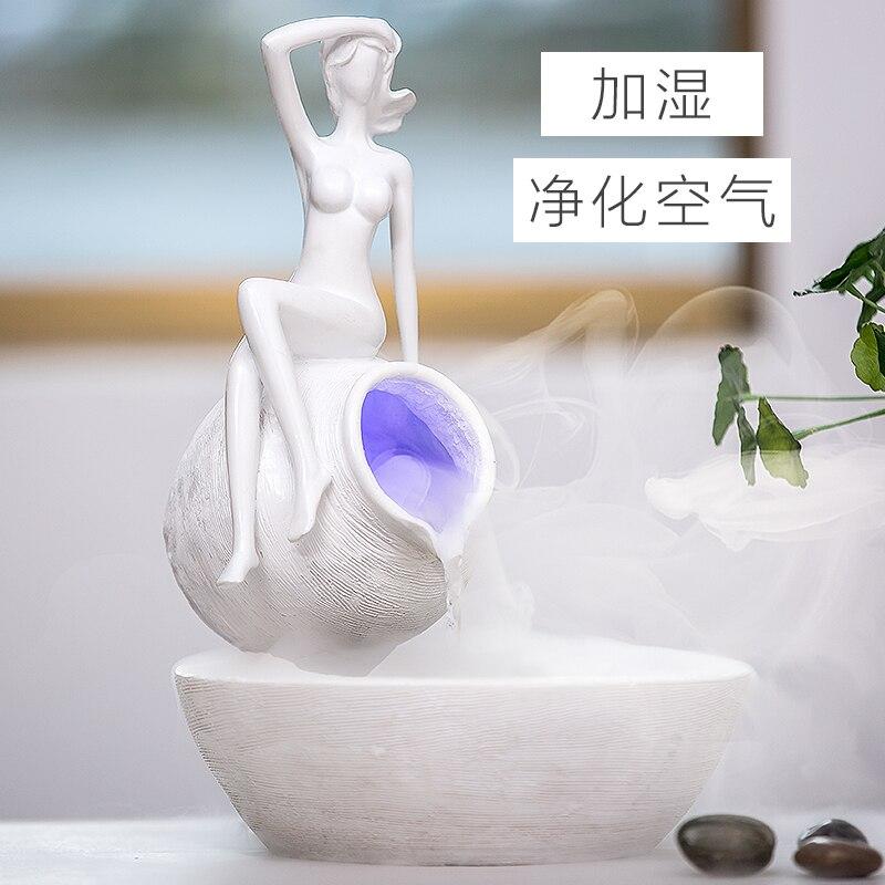 Украшения домашнего интерьера фонтан распыления увлажнитель украшения внутри гостиная украшения