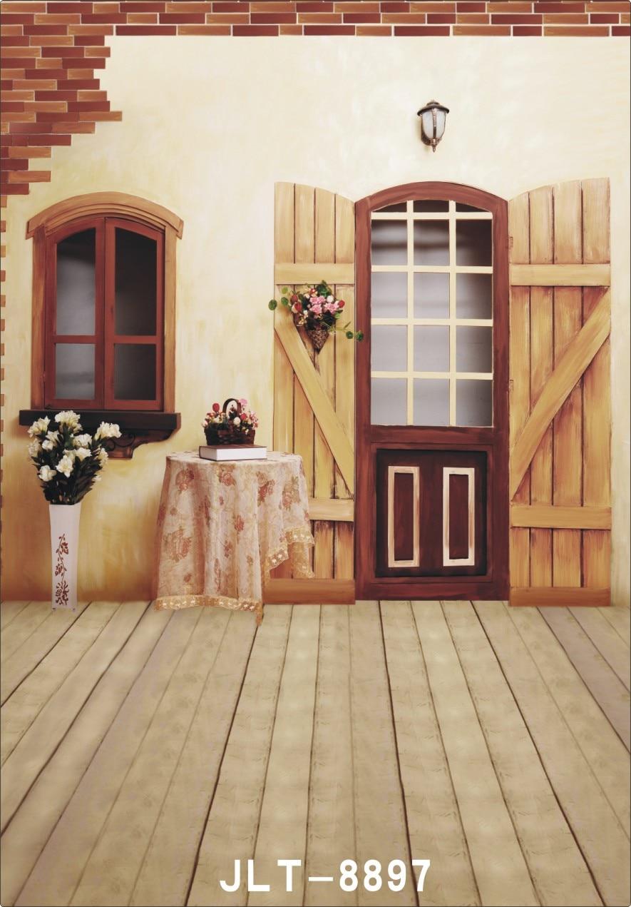 3x5ft flower wood wall vinyl background photography photo studio props - Photography Backdrop Photo Prop Indoor Children Wooden Floor Vinyl 5x7ft Or 3x5ft Photo Studio Background For