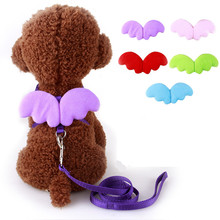 2018 Pets Use Dog Harness Leads Sets Butterfly Wing Cute Angel Style Harness Nylon Line Leashes