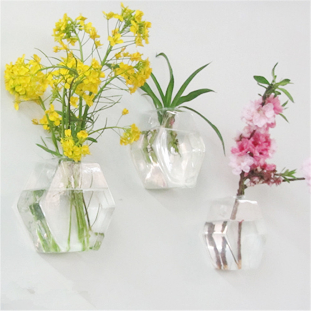 Hexagon shape wall hanging glass flower plant vase terrarium hexagon shape wall hanging glass flower plant vase terrarium container two size in vases from home garden on aliexpress alibaba group reviewsmspy