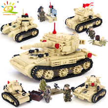 ФОТО 642+pcs kazi military 4 style army war sk105 tank building blocks compatible legoed tank weapon bricks toys for children friends