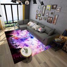 Round 3D Carpet Elk Star Christmas Rectangular Simple Nordic Living Room Bedroom Coffee Table Study Household Accessories