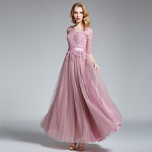 long evening dress sleeve formal gowns floor length women gala dresses Bridesmaid ever pretty robe sirene robe de soiree prom