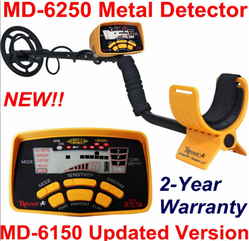 Professional MD-6250 Underground Metal Detector MD6250 Gold Digger Treasure Hunter \ MD6150 Updated Version Two Year Warranty lowest price hot md 3010ii underground metal detector gold digger treasure hunter md3010ii ground metal detector treasure seeker