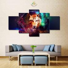 3-4-5 Pieces Abstract Wolf Modern Home Wall Art Decor Canvas Picture HD Printed Painted Painting Artworks