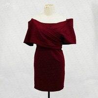 RSE724 с открытыми плечами для выпускного, Бургунди платья Vestido Curto