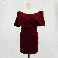 RSE724 Off The Shoulder Burgundy Homecoming Dresses Vestido Curto