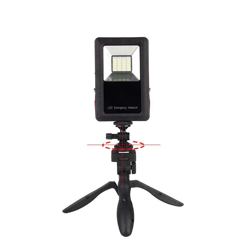 30 Watt Blue and Red Light Flash Emergency LED Floodlights USB Powerbank Function Wide-angle Portable Spotlight for Searchlights