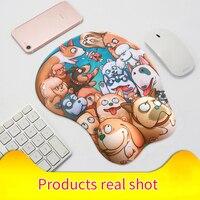 Pbpad mağaza 3D küçük mouse pad sevimli karikatür bilek pedleri karikatür silika jel dizüstü tablo mousepad mousemat kızlar Göğüs ofis pedleri