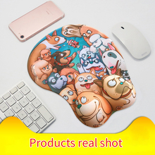 Pbpad store 3D small mouse pad cute cartoon wrist pads silica gel mousemat laptop table mousepad girls Chest office