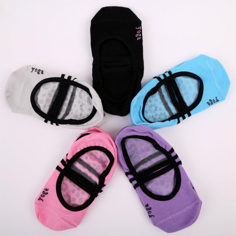 1 Pair Fitness Socks Non Slip Pilates Massage Ballet Socks Exercise 17Nov12