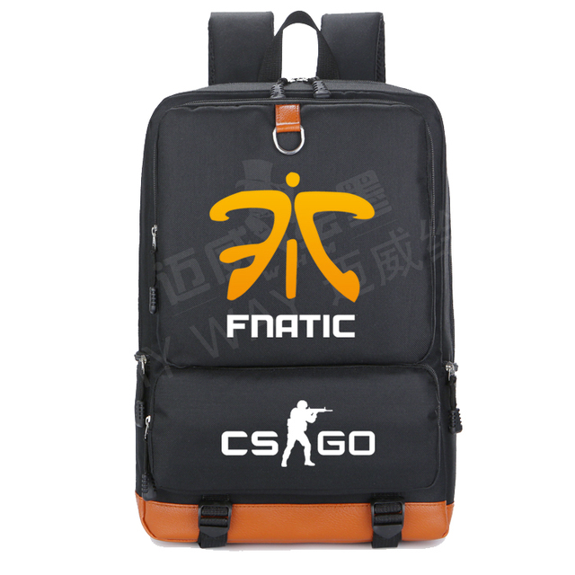 39871193f8 2018 new Team Fnatic DOTA 2 CS CSGO backpack Men shoulder travel bag women  Student School