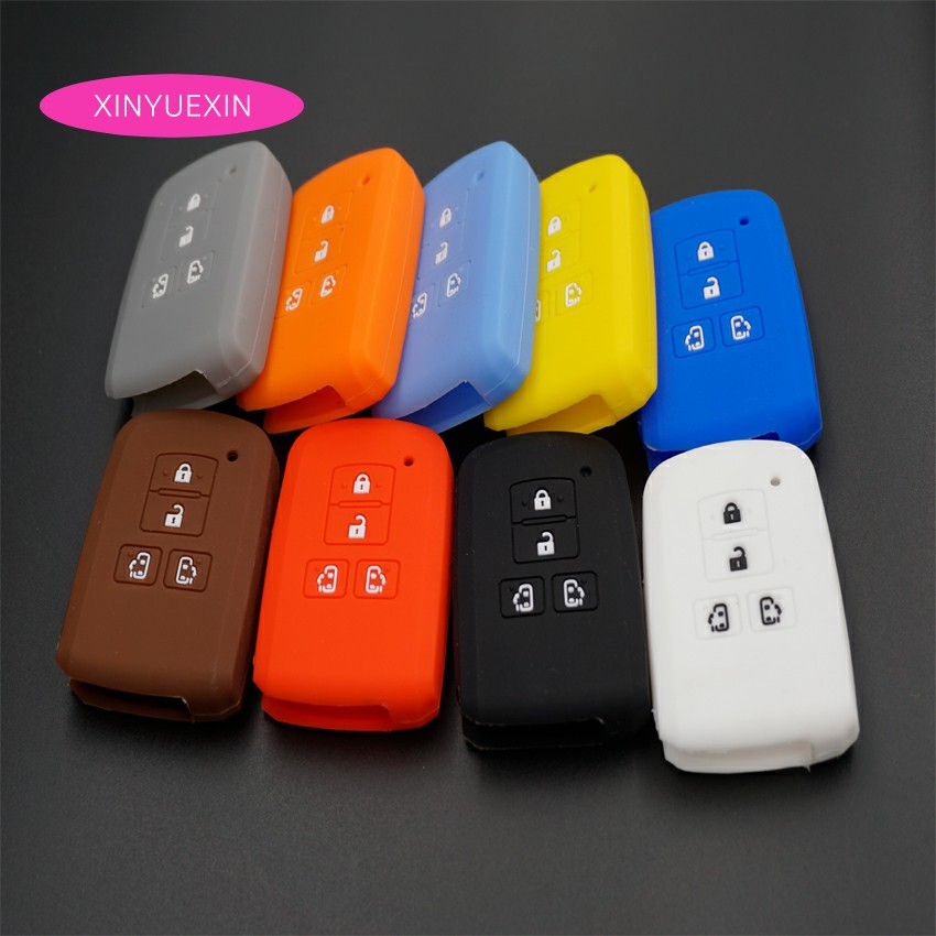 Xinyuexin Silicone Car Key Case Fob Cover for Toyota Sienta Remote Key Case for Car Interior Accessories 4 Buttons Car Styling xinyuexin silicone car key cover fob case for toyota altezza wish carina one button on side remote key car styling