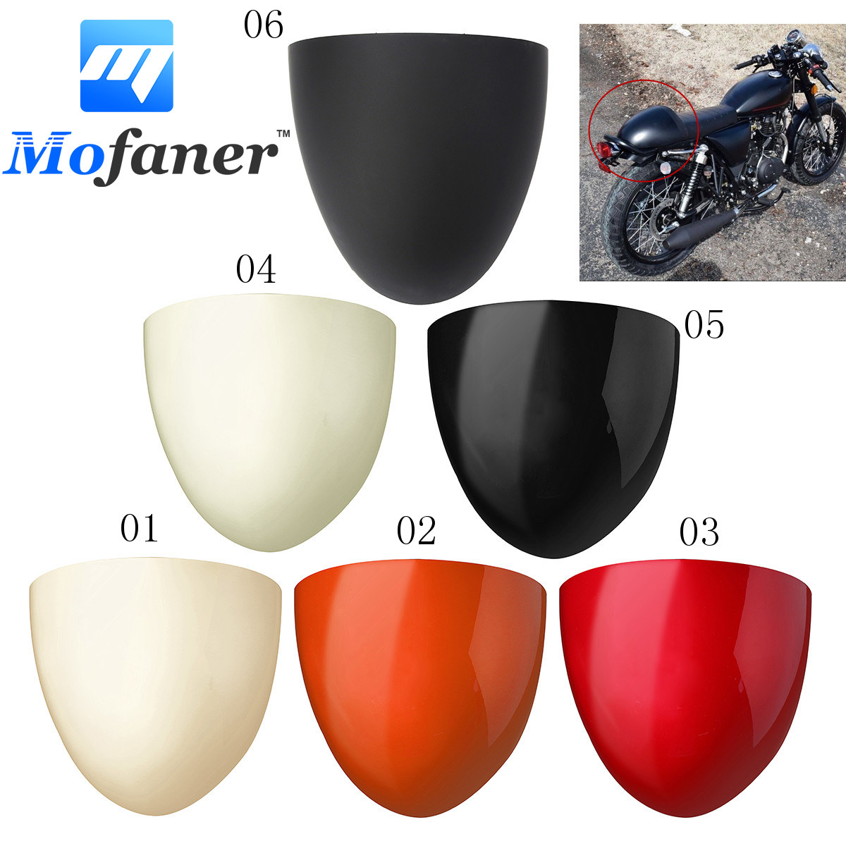 Universal Motorcycle ABS Rear Seat Cowl Cover For Cafe Racer Compartment Seat for ducati 848 1098 1198 all year new motorcycle passenger rear seat cover cowl motor seat cover case