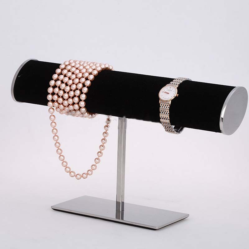 Stainless Steel Bracelet Reveal Frame Bracelet Display Holder Watches Jewelry Display Shelf Outsourcing Flannelette