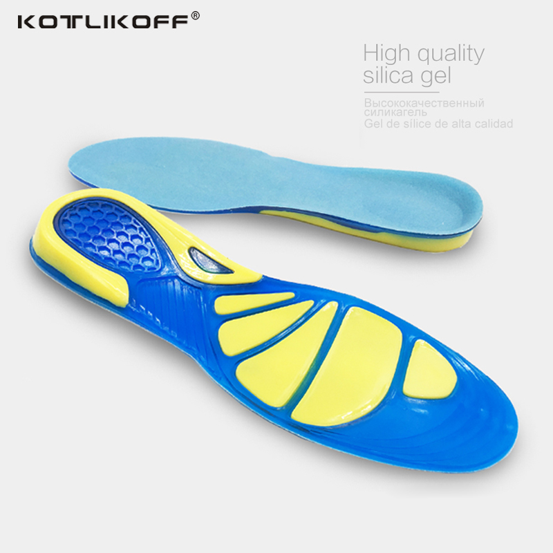 KOTLIKOFF Silicone Gel Insoles Foot Care for Plantar Fasciitis Heel Spur Sport Shoe Pad Insoles Arch Orthopedic Insole foot pad 2016 1 pair large size orthotic arch support massaging silicone anti slip gel soft sport shoe insole pad for man women