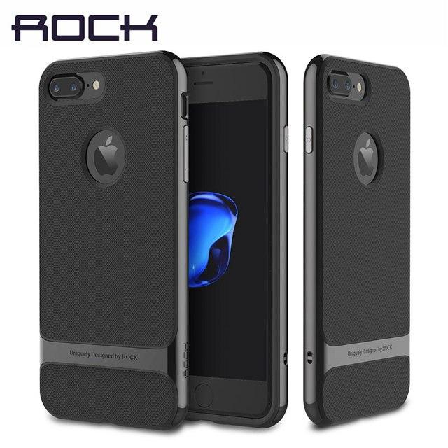 ROCK funda de lujo para iPhone 7/7 Plus, carcasa Original de lujo con textura de TPU y armadura, elegante