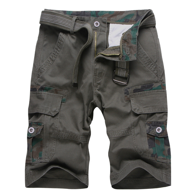 TJWLKJ Mens Military Cargo Shorts Cargo Shorts Summer Army Green  Shorts Men Loose Multi-Pocket Shorts Homme Casual Trousers