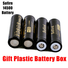 Sofirn sofirn 14500 900mah bateria 3.7v li-ion baterias recarregáveis aa baterias de pilha de lítio cabeça superior