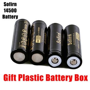 цена на Sofirn Sofirn 14500 900mAh Battery 3.7V Li-ion Rechargeable Batteries AA Lithium Cell Batteries for Camera/E-cigarette Top Head