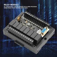 PLC Relay Module Industrial Control Board FX1N 20MR Programmable Relay Delay Module with Shell