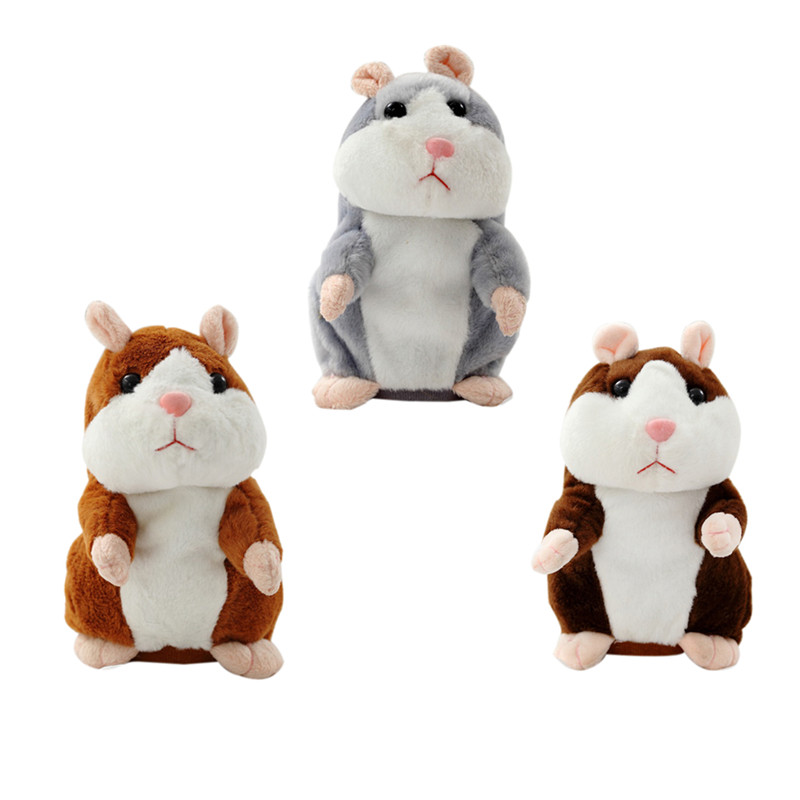 2017 Talking Hamster Mouse Pet Plush Toy Hot Cute Speak Talking Sound Record Hamster Educational Toys