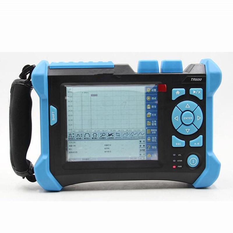 Grand Écran Tactile Affichage FTTX OTDR testeur TR-600 1310/1550nm 32/30 dB Intégré VFL
