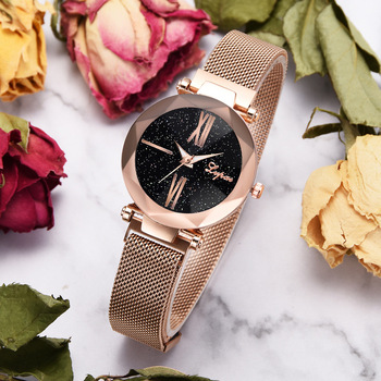 dropshipping new 2019 Luxury Women Watches Magnetic Starry Sky Female Clock Quartz Wristwatch Fashion Ladies Wrist Watch  reloj