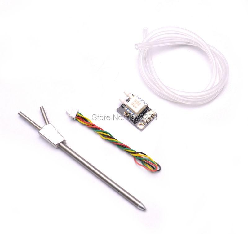 PX4 Pixhawk Velocidade Diferencial Cabeça Tubo de Pitot Tubo PITOT Airspeedometer Sensor de Velocidade Do Ar para PX4 Piloto Automático Controlador de Vôo