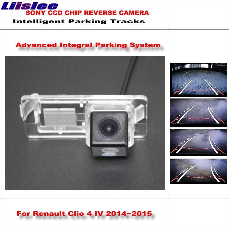 Liislee HD SONY Car Rear Camera For Renault Clio 4 IV 2012~2018 Intelligent Parking Tracks Reverse Backup / NTSC RCA AUX l locker renault clio iv hb 12