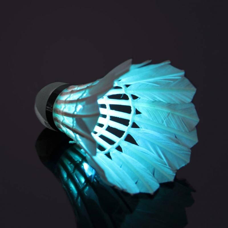 Free Shipping New Lighting Badminton Dark Night Colorful LED Lighting Sport Badminton Light Spot Shuttlecock