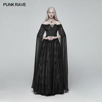 Punk Rave Women Dress Gothic Victoria Dress Women Dark Cosplay Stage Performance Clothing formal Dress Long Dress